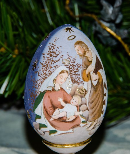 Hand-painted Egg, St. Petersburg, Russia Gift from my daughter