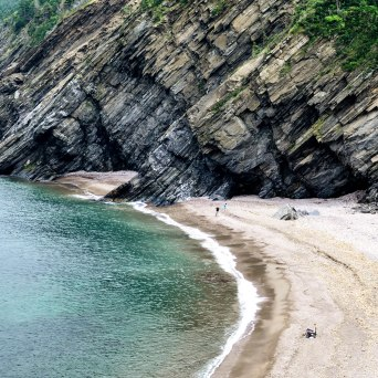 I found this image to be a dramatic part of a beautiful panorama at Meat Cove, Nova Scotia. I prefer to focus on the part.