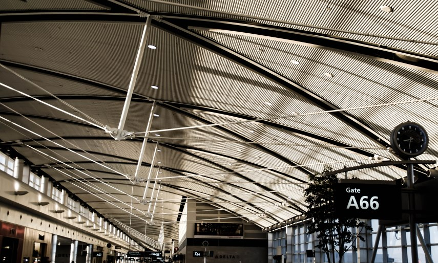 Sun Shinning in Detroit Metro Airport