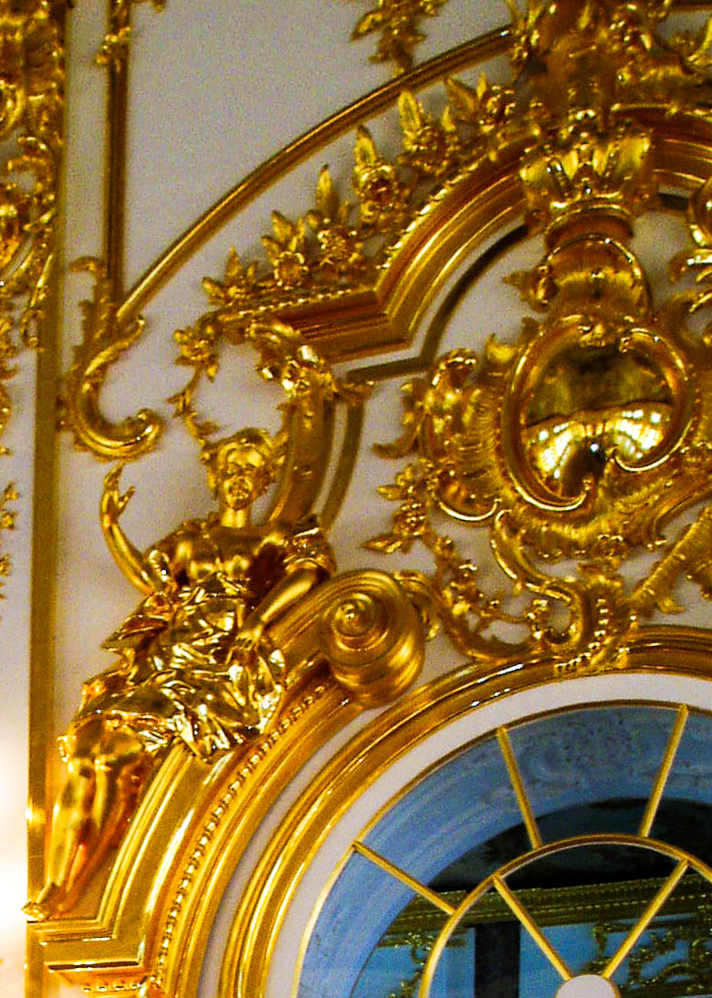 Gold in Catherine Palace, outside St. Petersburg, Russia