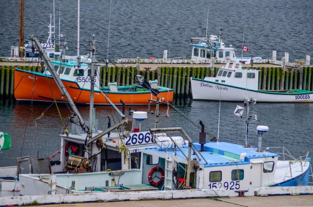 Fishing boats on Nova Scotia