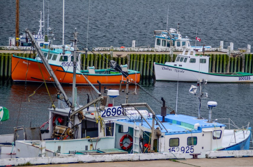 Fishing boats on Nova Scotia