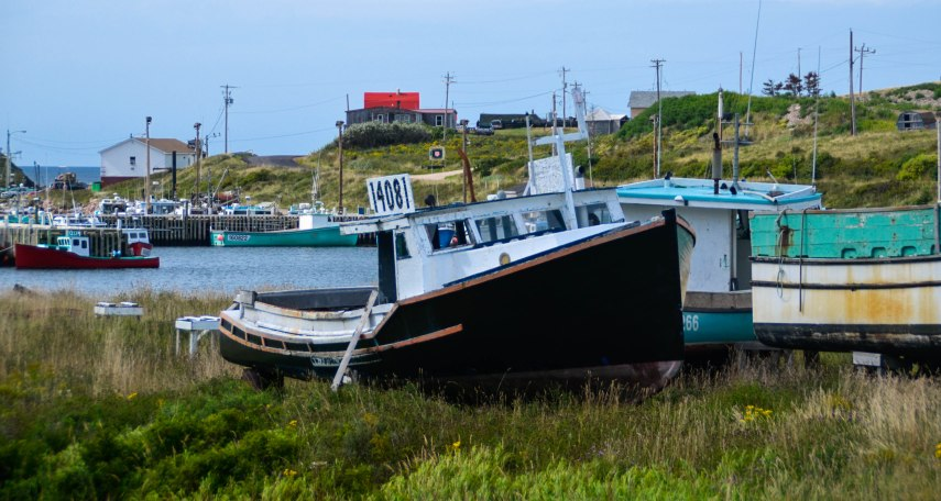 Lobster boats at North Point, Nova Scotia