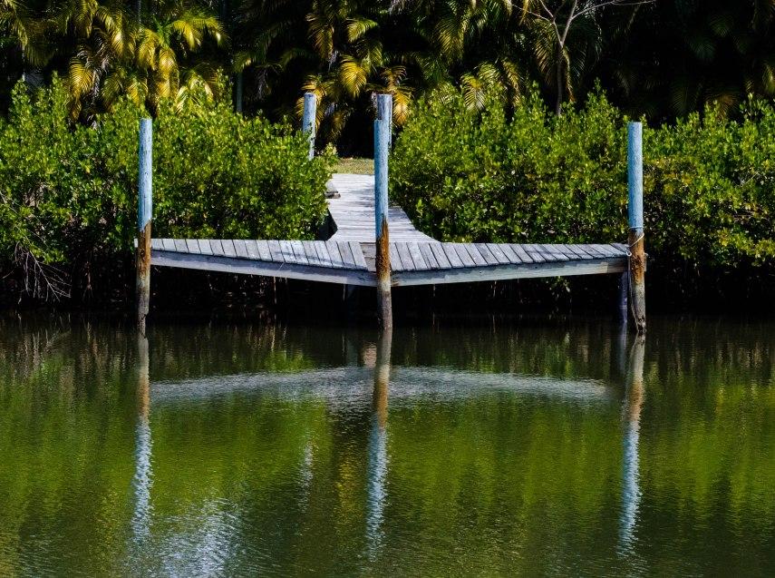 A sagging dock.