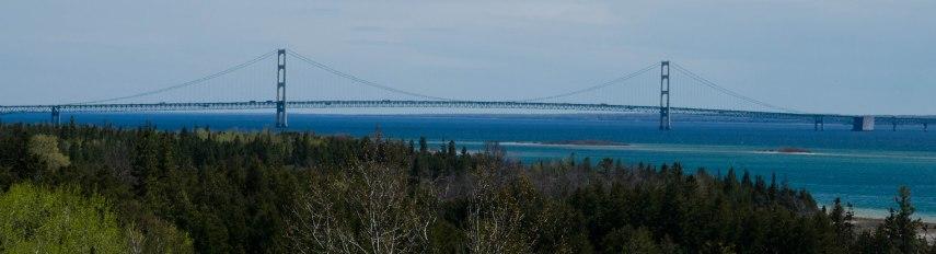 Mackinac Bridge from Highway 2