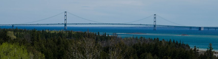 Mackinac Bridge from Highway 2