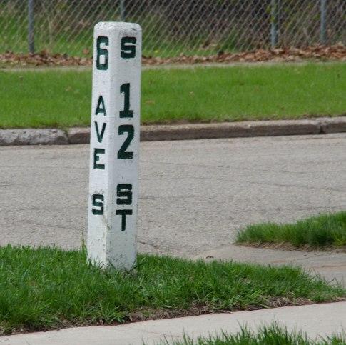 Escanaba street sign.