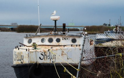 Fishing boat provides fresh-water fish.