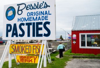 I had to have a pastie and Natalie said Bessie's had good ones. They opened on the 15th for the summer season.