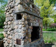 Standing fireplace in the Irish Hills region of Michigan.