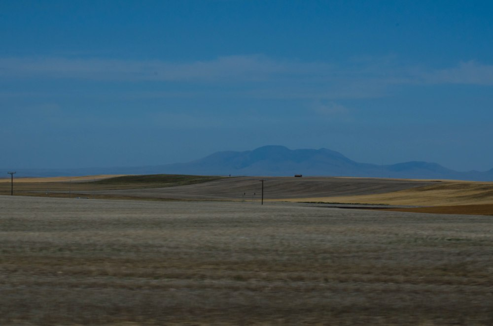 Rocky Mountains on the horizon.