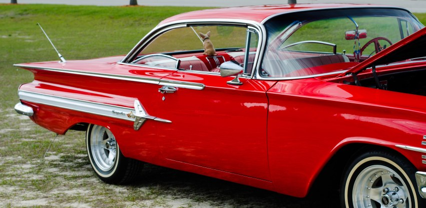 J's dad owned a Chevy like this and would let J borrow it for special occasions, like the prom.