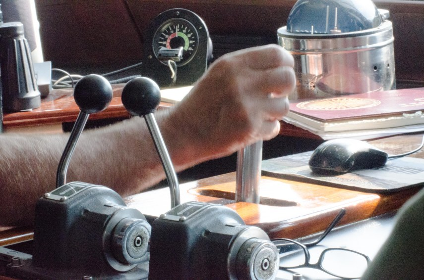 Using electronic steering.