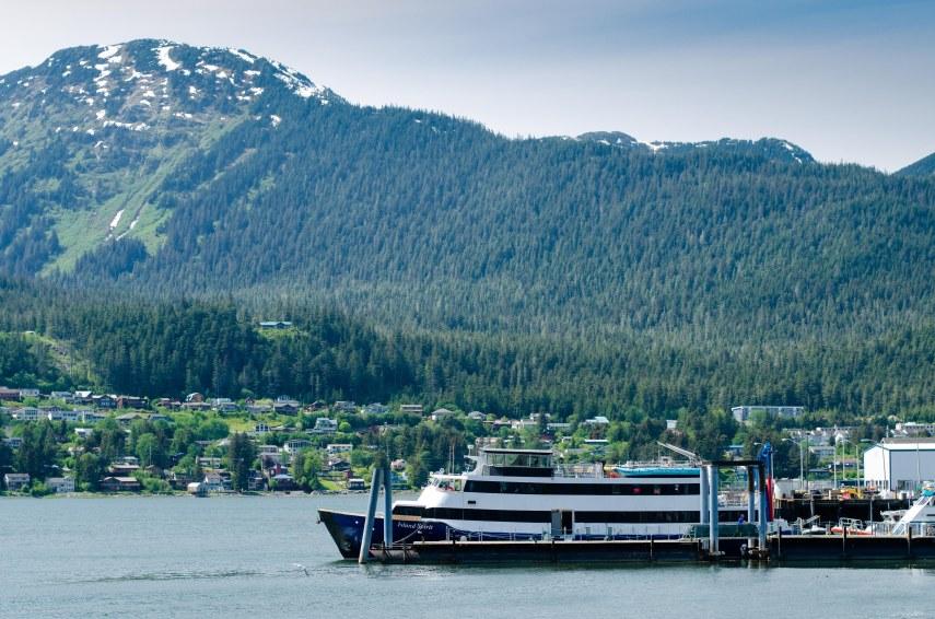 Island Spirit at dock in Juneau.