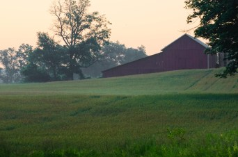 Farm in the early morning light.