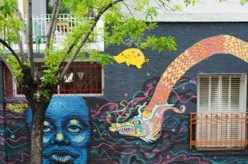 Lots of murals.